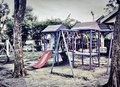 Kid Playground Slide and Climber in A Park