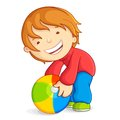 Kid playing with Beach Ball Stock Photos
