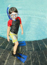 Kid ready to swim Stock Photography