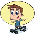 Kid riding skateboard Royalty Free Stock Photos