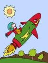 Kid on Rocket Ship