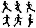 Kid running silhouettes