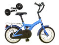 Kid's bicycle Royalty Free Stock Photos