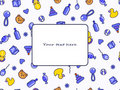Kid's blue yellow seamless doodle pattern Royalty Free Stock Image
