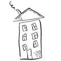 Kid s drawing of a house a illustration Stock Images