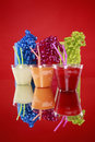 Kid's party smoothies and gift bags Royalty Free Stock Photo