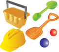 Kid's plastic sand toys Royalty Free Stock Photography