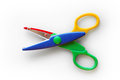 Kid safe scissors Royalty Free Stock Photo