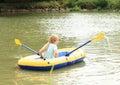 Kid Sailing In Punt