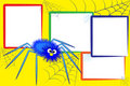 Kid scrapbook - Spider and spiderweb Royalty Free Stock Photos