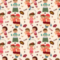 Kid sport seamless pattern Royalty Free Stock Photography