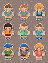 Kid stickers Royalty Free Stock Photos