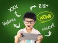Kid is surprising on Dangerous content on Internet