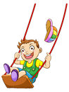 Kid on a Swing Stock Photos