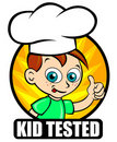 Kid Tested seal, version Chef Royalty Free Stock Photos