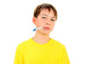 Kid with Thermometer Royalty Free Stock Photo