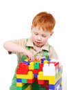 Kid with toy blocks Stock Photos