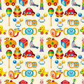 Kid toy seamless pattern Stock Images