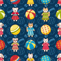 Kid toy seamless pattern. Design element for postcard, banner, flyer