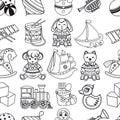 Kid toy seamless pattern.