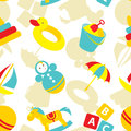 Kid toy seamless pattern vector with toys Stock Photography
