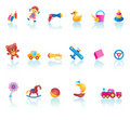 Kid Toys Icon Set Royalty Free Stock Photos