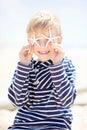 Kid on vacation Royalty Free Stock Photo