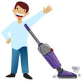 Kid Vacuuming Stock Photography