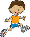 Kid Vector Illustration Royalty Free Stock Photo