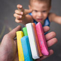 Kid wish chalk Stock Images