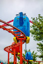 Kiddie helicopter amusement ride at the park Royalty Free Stock Photo