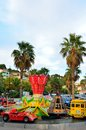 Kiddie Ride Carousel merry go round in Le Lavandou cote azur, France Stock Images