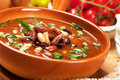 Kidney bean soup thick in rustic bowl selective focus image Royalty Free Stock Photography