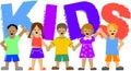 Kids/ai Royalty Free Stock Photo