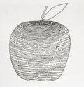 Jablko kreslenie z blízka
