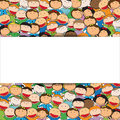 Kids background colorful bacground with many happy and cute Royalty Free Stock Photos