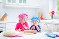 Kids baking pie Royalty Free Stock Photo