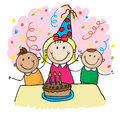 Kids birthday Stock Photography
