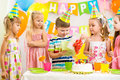 Kids on birthday holiday happy celebrating Royalty Free Stock Photography