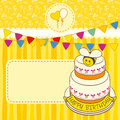 Kids birthday party invitation Royalty Free Stock Images