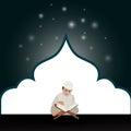 kids boy read holy quran qoran Islam in mosque