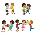Kids Bullies Illustration Royalty Free Stock Photo