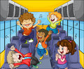 Kids in the bus Royalty Free Stock Photo
