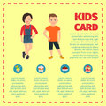 Kids card template for infographic