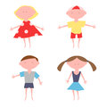 Kids Characters. Little People. Vector