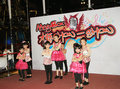 Kids christmas dancing event in hong kong december located mega box shopping mall kowloon bay from perform Royalty Free Stock Photo