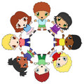 Kids circle Stock Image