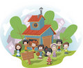 Kids club house Royalty Free Stock Image