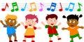 Kids Dancing Royalty Free Stock Photo