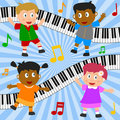 Kids Dancing Composition Royalty Free Stock Photo